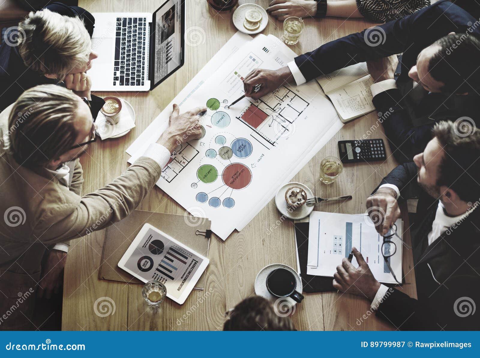 Team Meeting Brainstorming Planning Analysing-Konzept
