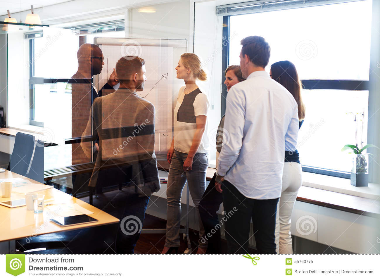 Team meeting in conference room