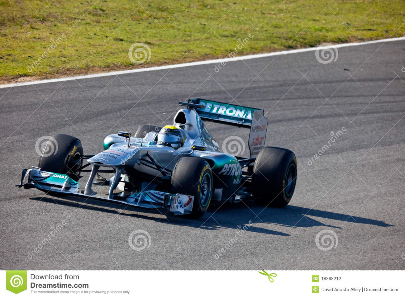 Team Mercedes F1, Nico Rosberg, 2011 Editorial Photography ...