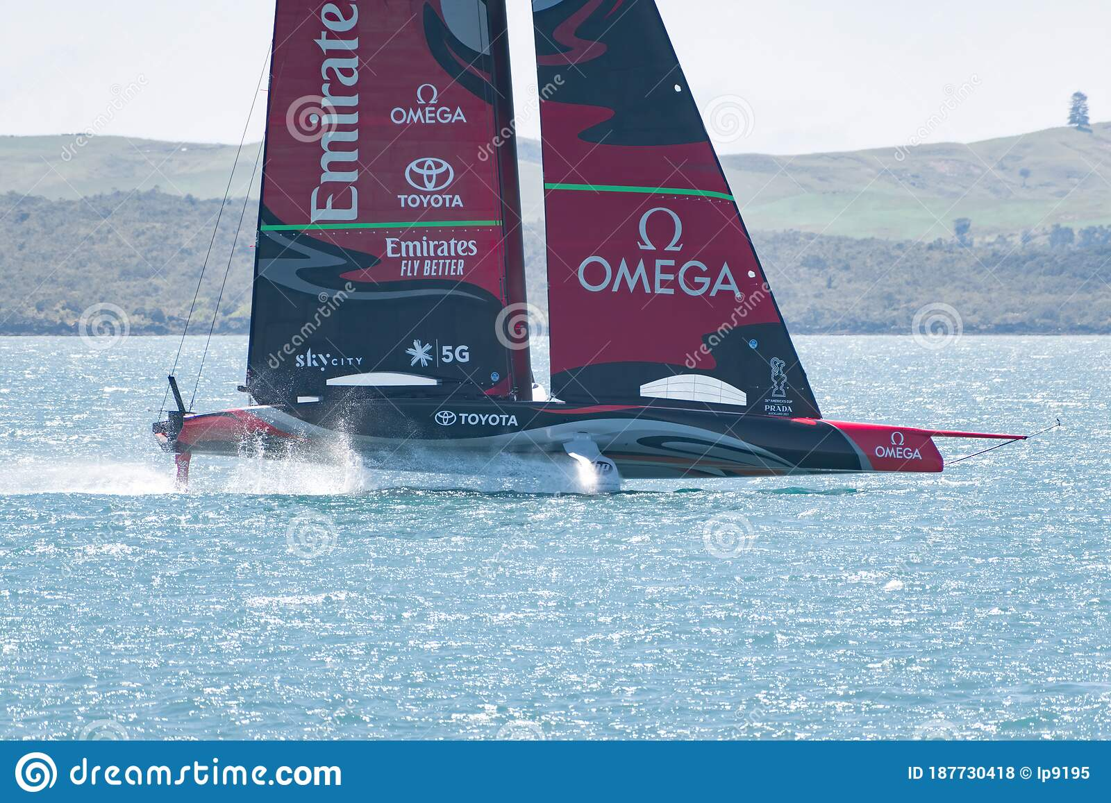Team New Zealand Emirates Hydrofoil Sailboat Editorial Stock Photo Image Of Competition Sail 187730418