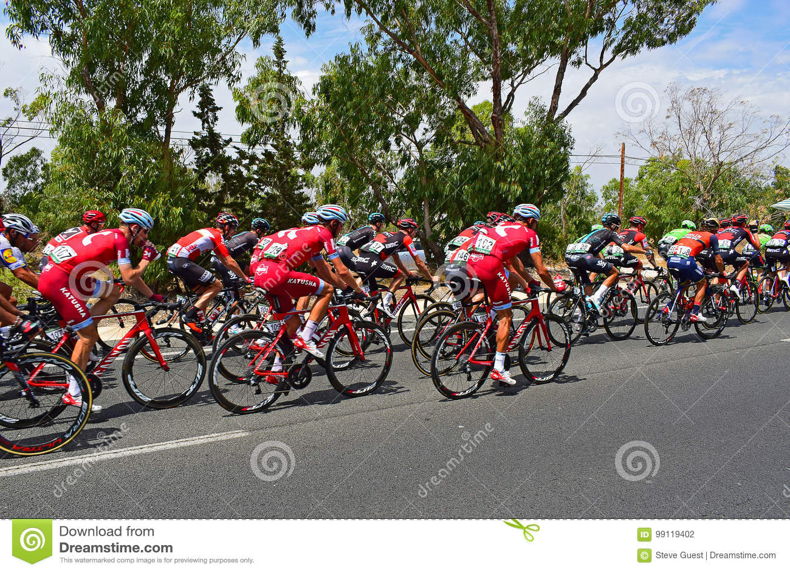 Team o katusha Alpecine no La Vuelta España de Peleton