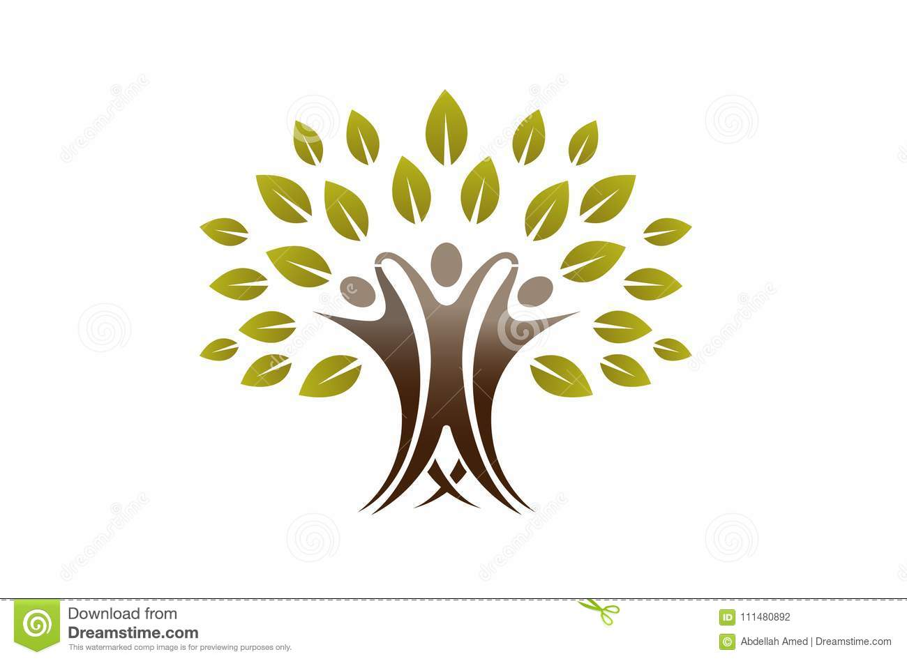 Team People Tree Logo creativo