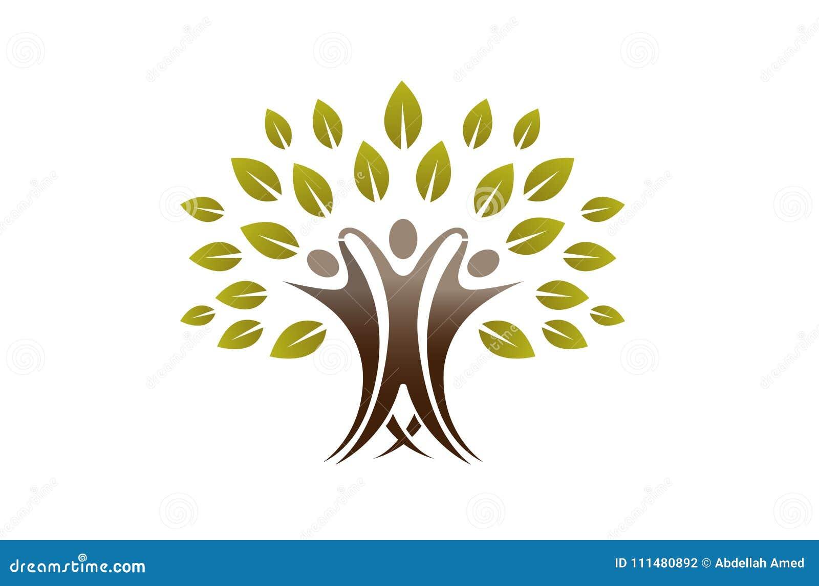 Team People Tree Logo criativo