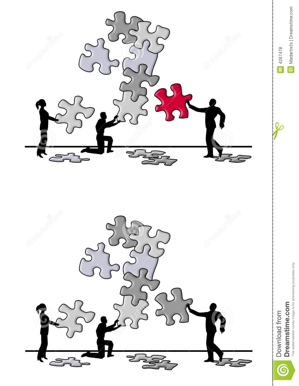 problem and solution puzzle piece graphic organizer - jigsaw puzzle