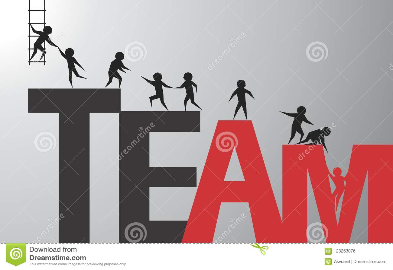 Download Successful team stock vector. Illustration of willpower - 123263076