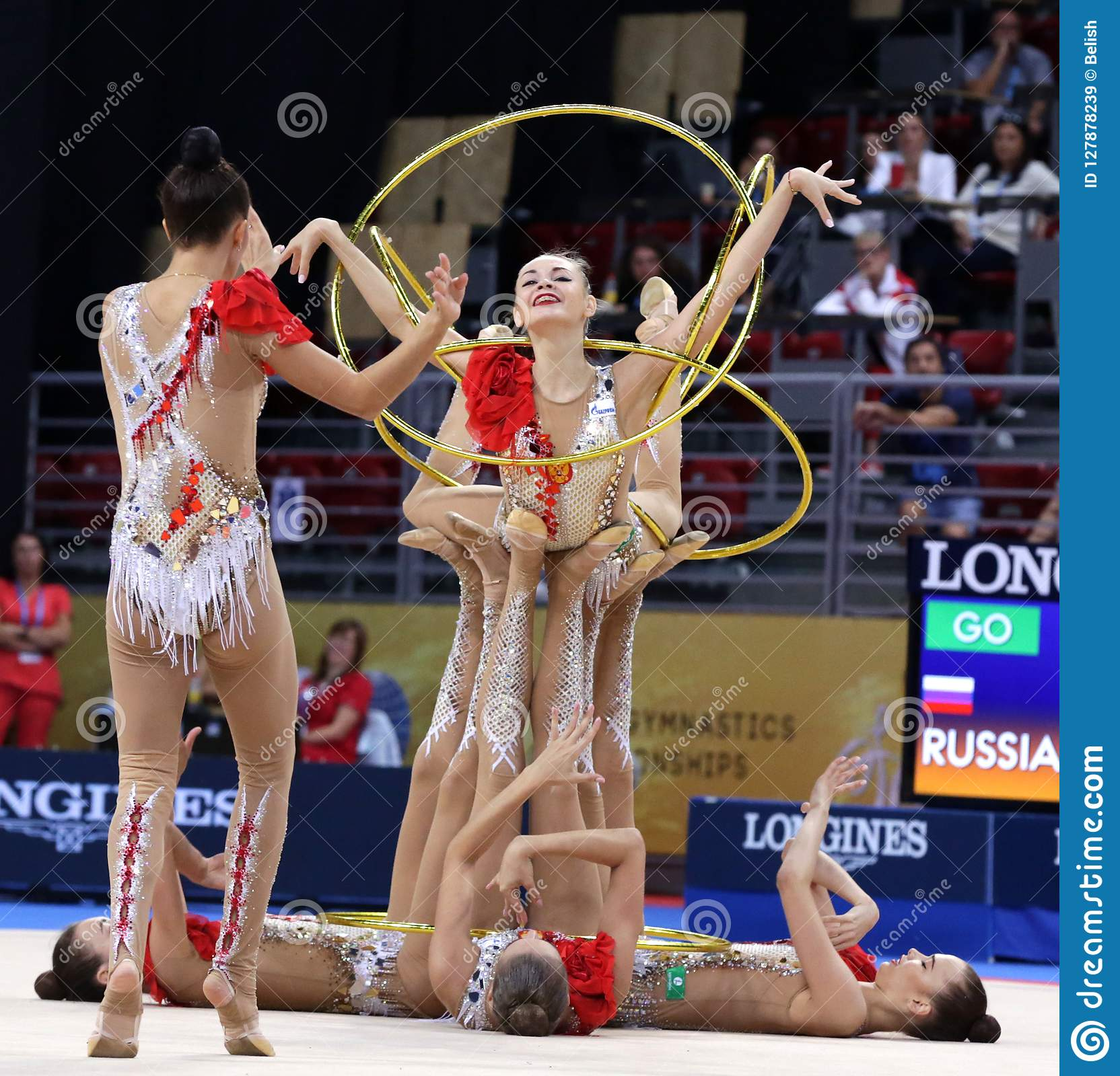 Team Russian Federation Rhythmic Gymnastics Editorial Stock Image