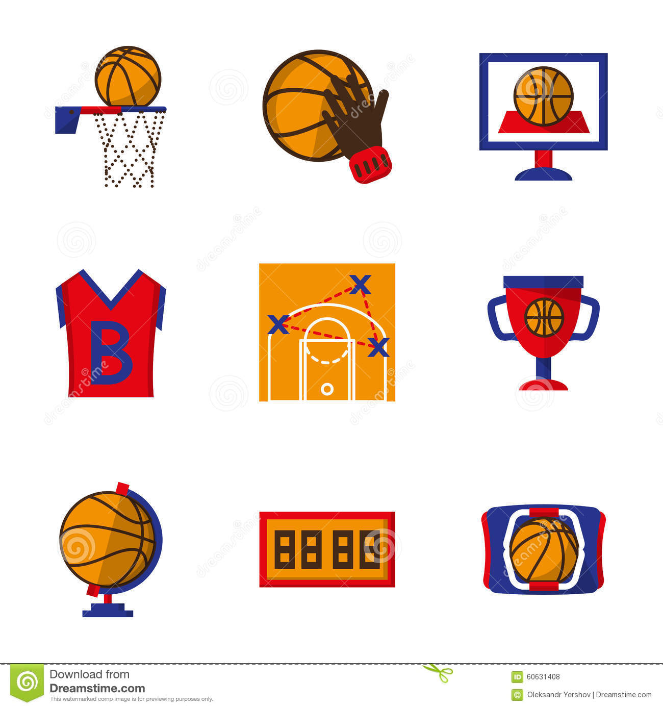 Other Team Sports: Team Sport Icons Set. Basketball Stock Photo