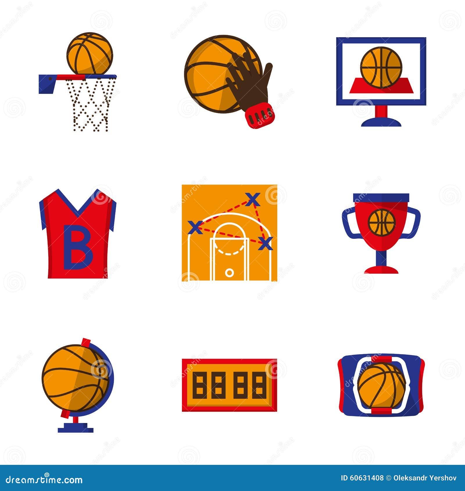 team sport icons set basketball stock photo image 60631408