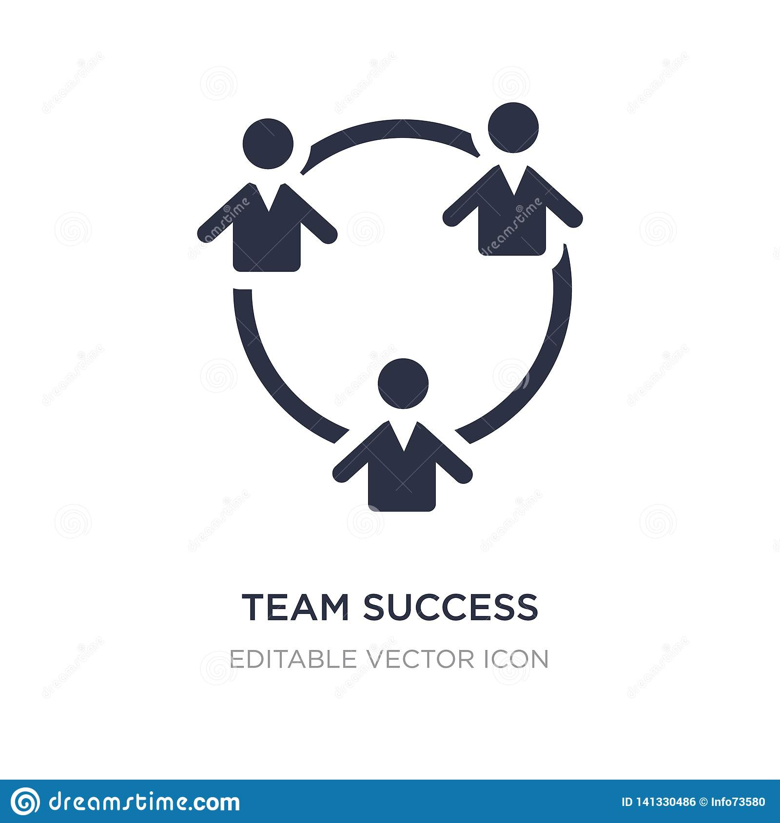 team success icon on white background. Simple element illustration from People concept