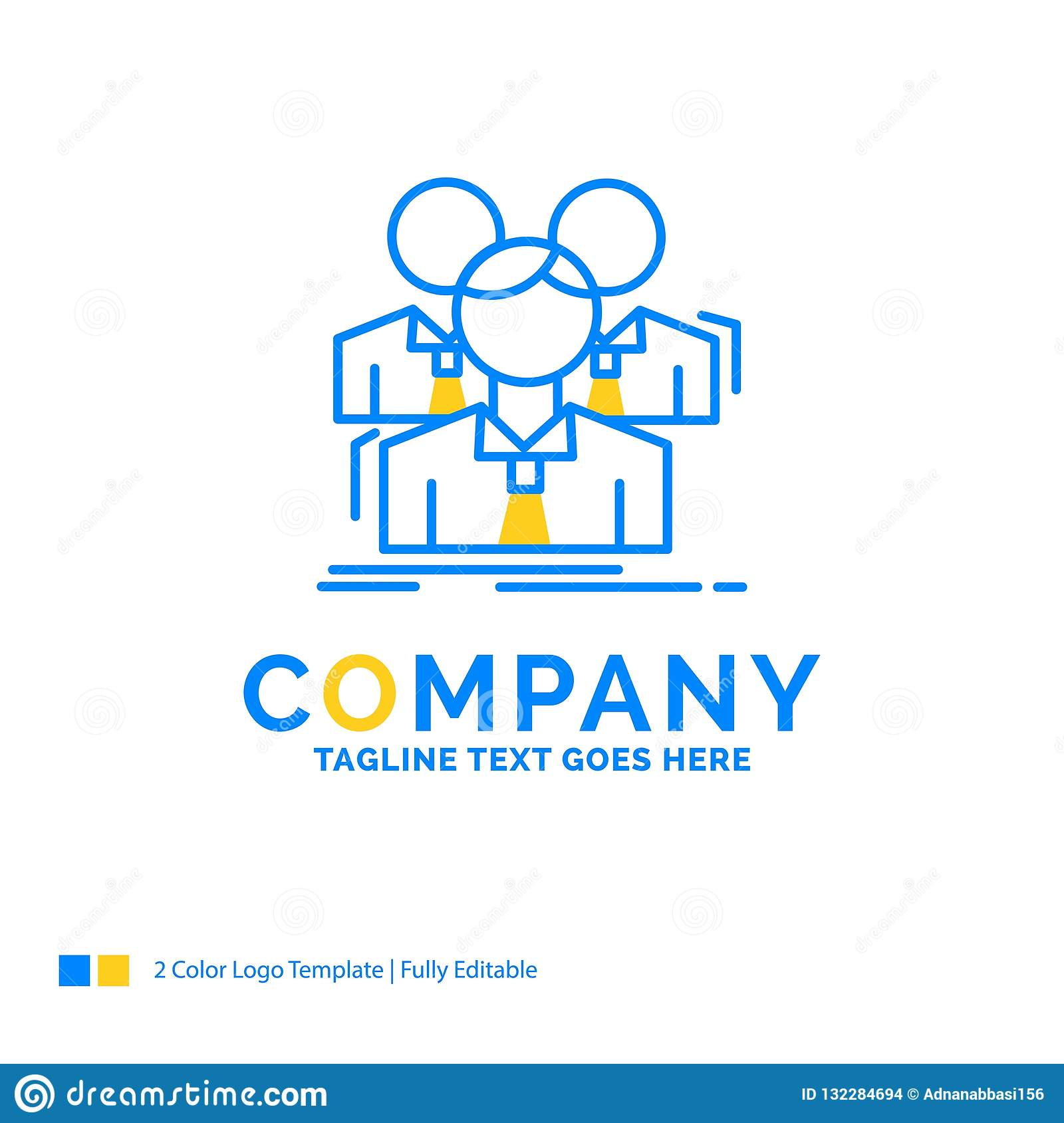 Team, teamwork, Business, Meeting, group Blue Yellow Business Lo