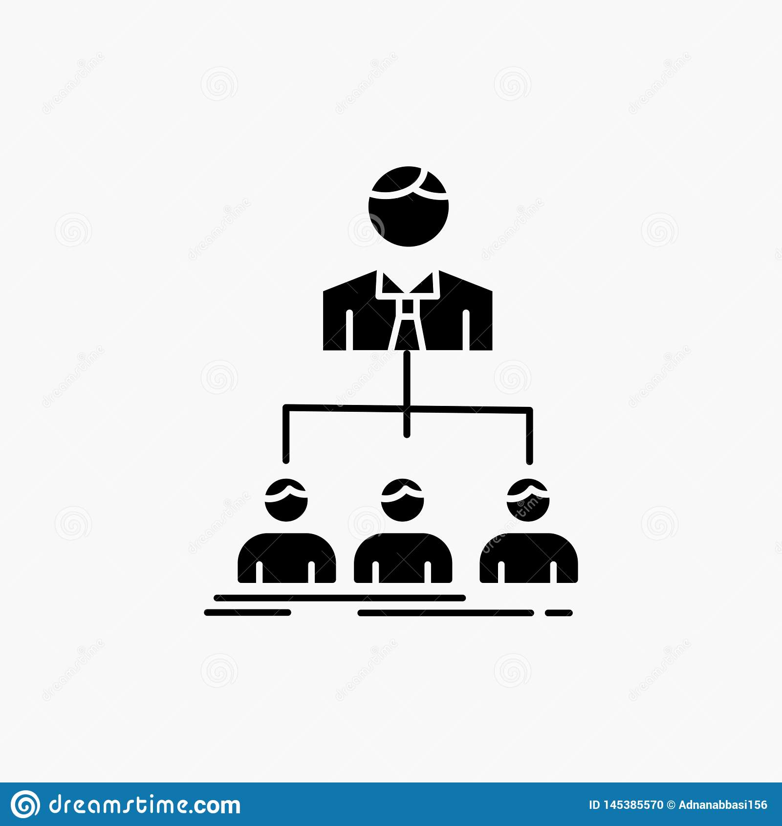 Team, Teamwork, Organisation, Gruppe, Firmaglyph-Ikone Vektor lokalisierte Illustration