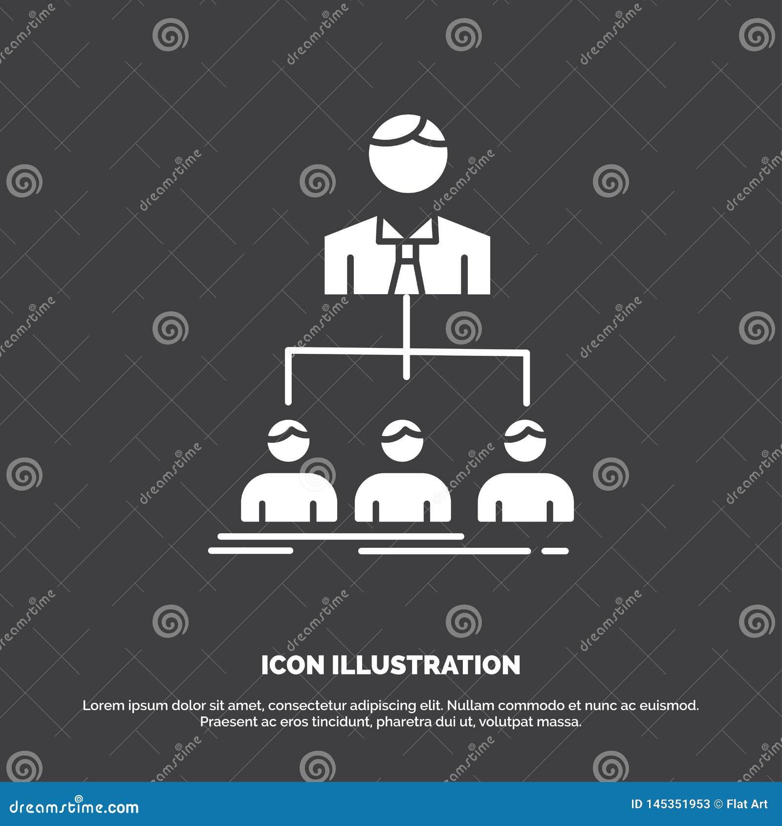 Team, Teamwork, Organisation, Gruppe, Firmaikone Glyphvektorsymbol f?r UI und UX, Website oder bewegliche Anwendung