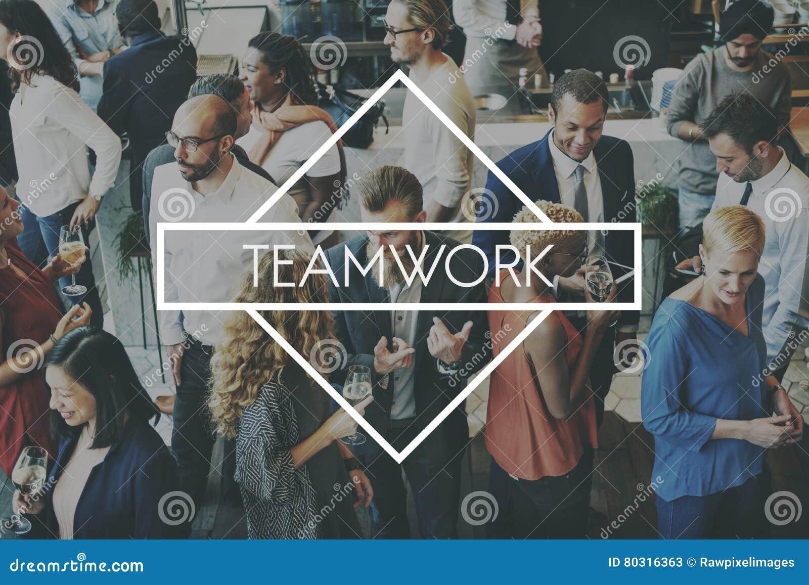 Team Teamwork Teambuilding Synergy Empower begrepp