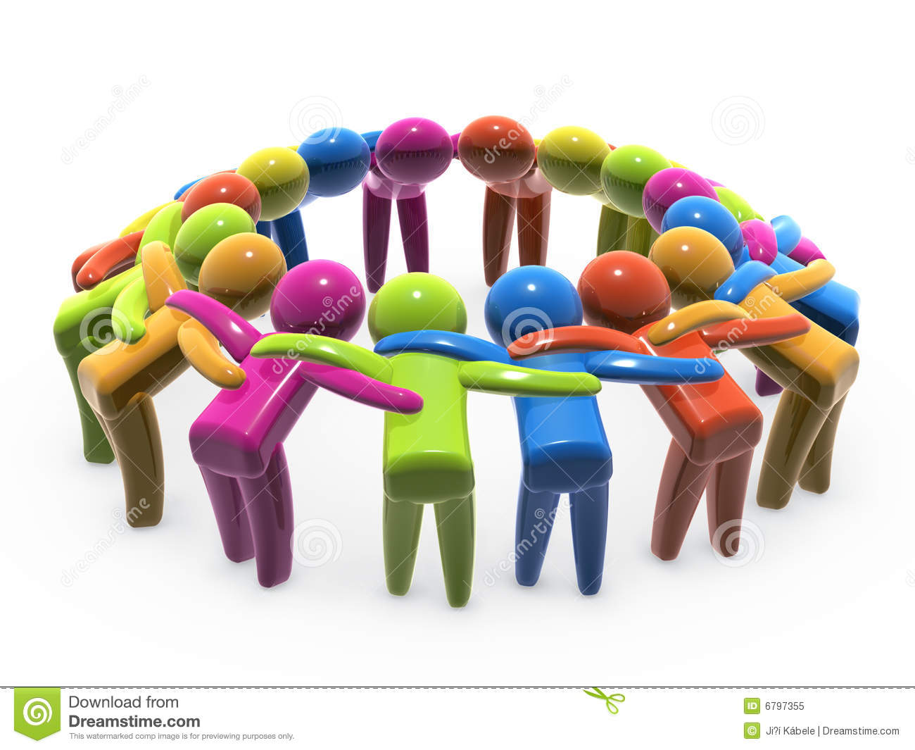 Team Unity And Cooperation Royalty Free Stock Photo ...  |Group Cooperation