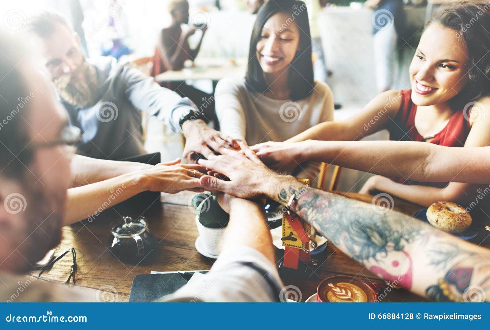 Team Unity Friends Meeting Partnership begrepp