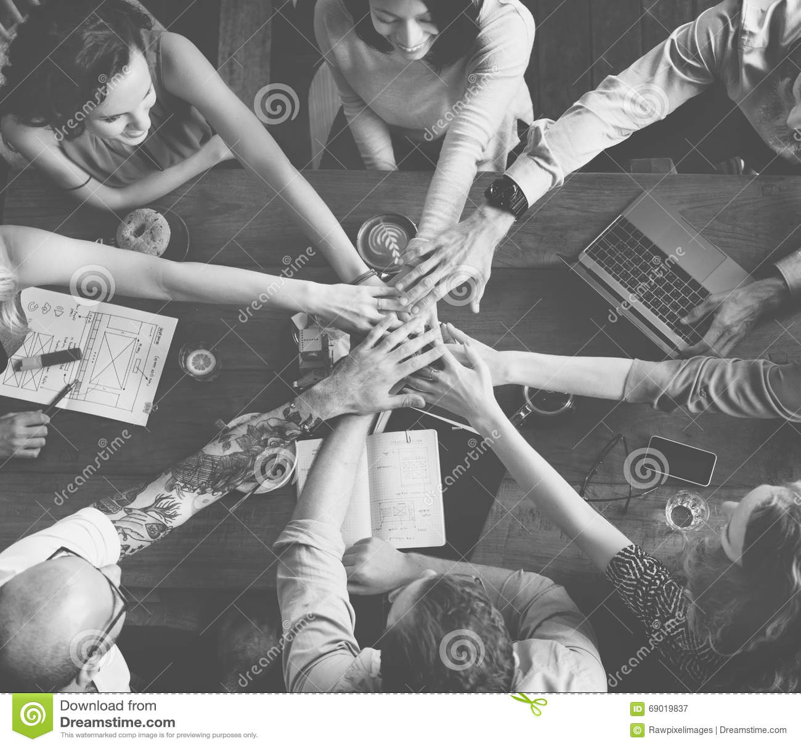 Team Unity Friends Meeting Partnership-Konzept
