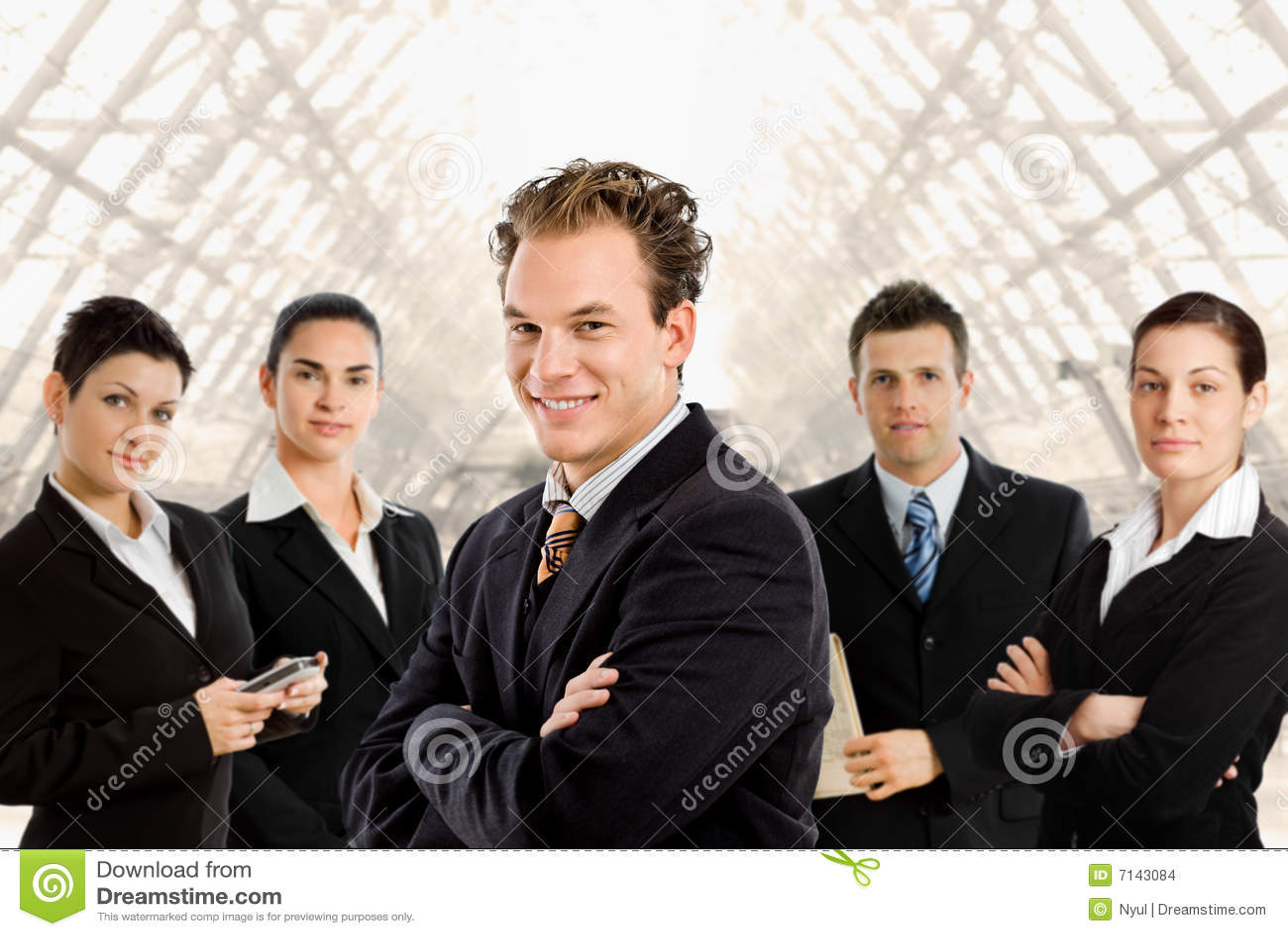 Team van bedrijfsmensen