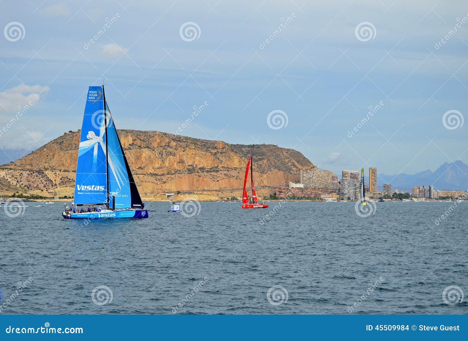 Team Vestas Wind Departing Alicante