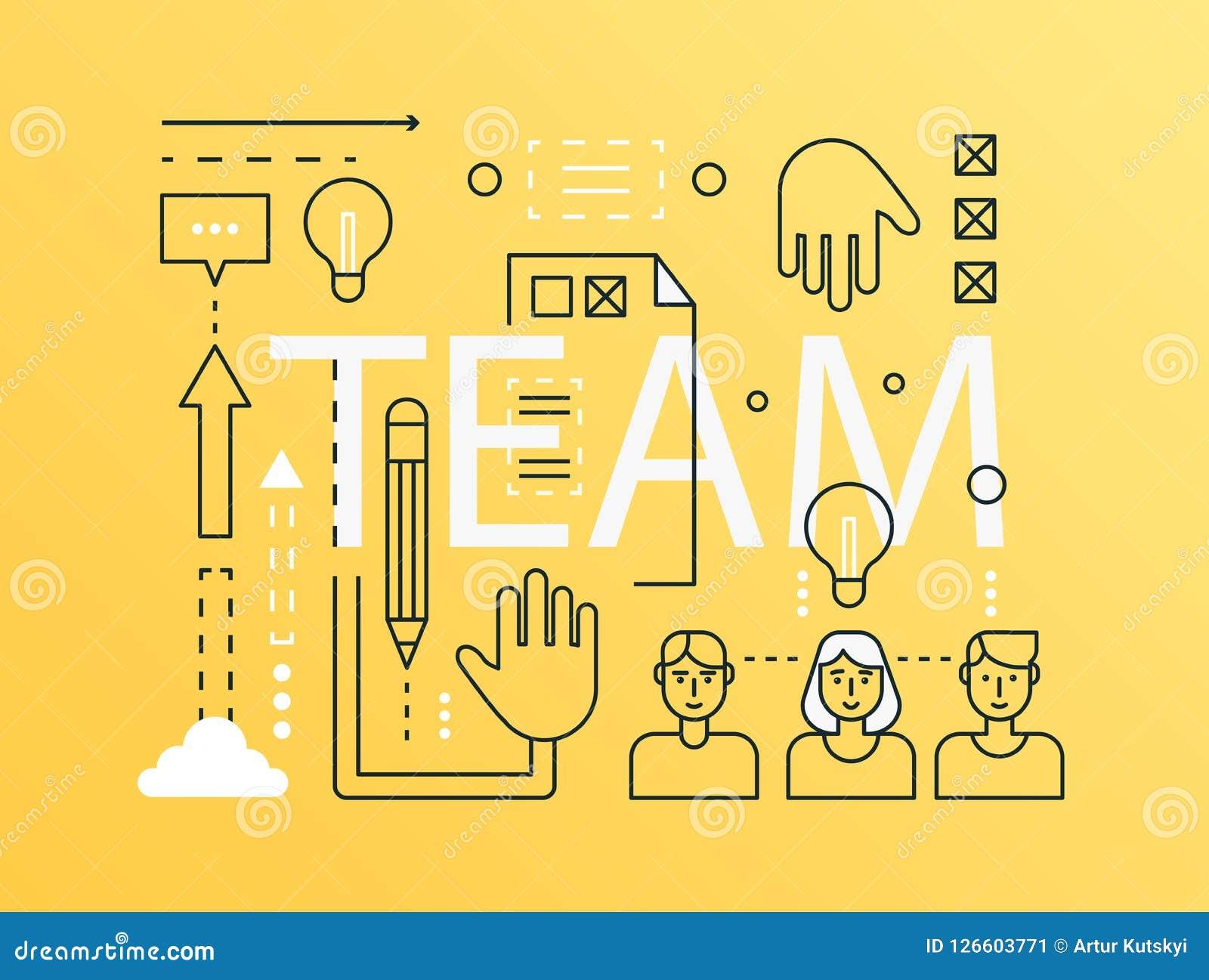 global human resources business people work team cartoon