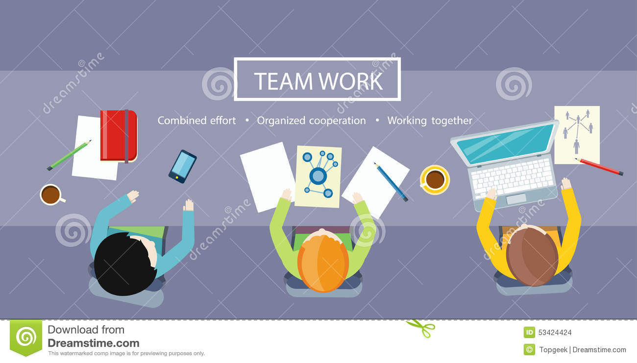 team work concept business meeting stock vector image  team work concept business meeting