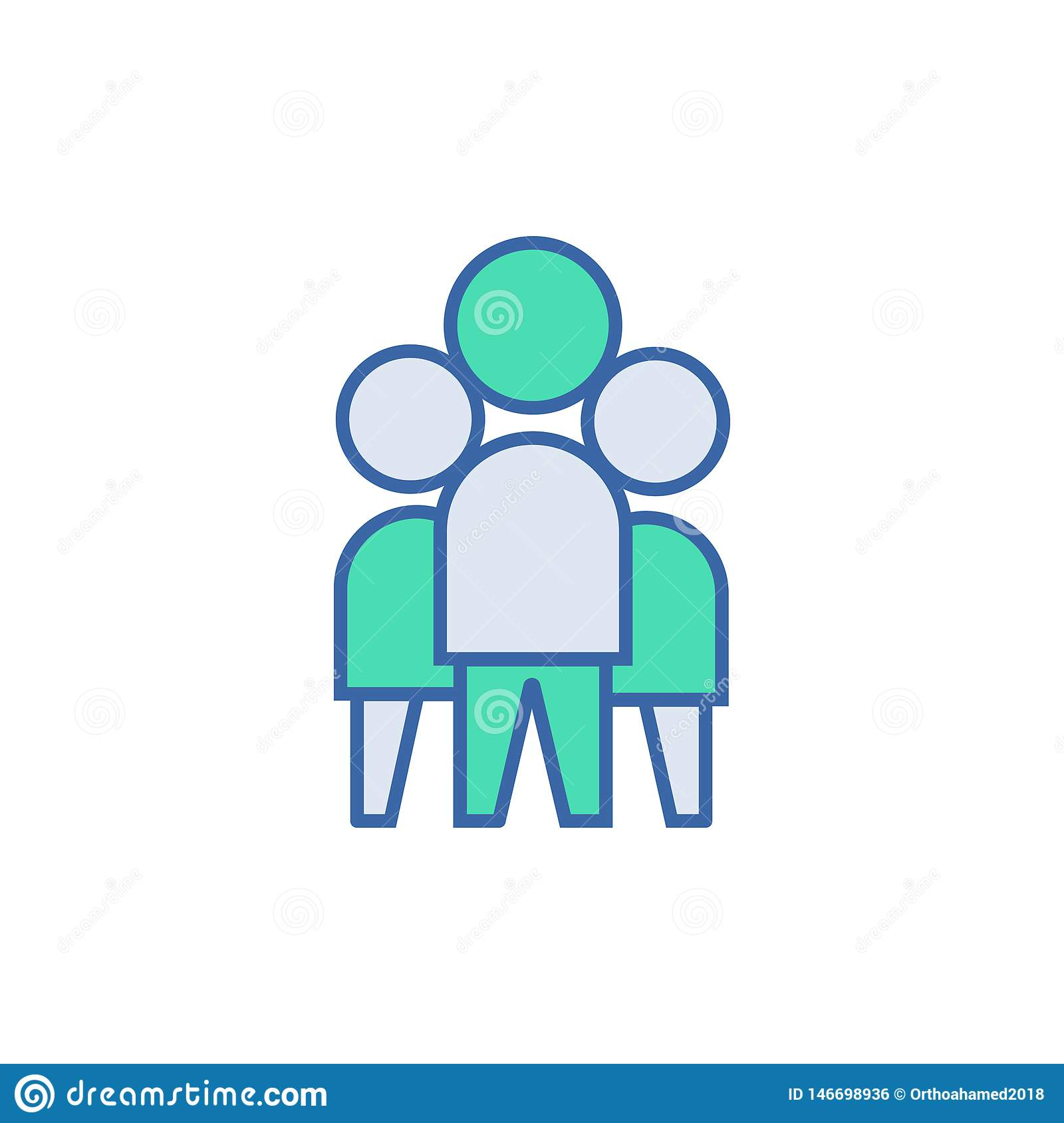 Team Work icon. vector Scheme and Diagram symbol. flat Team Work icon