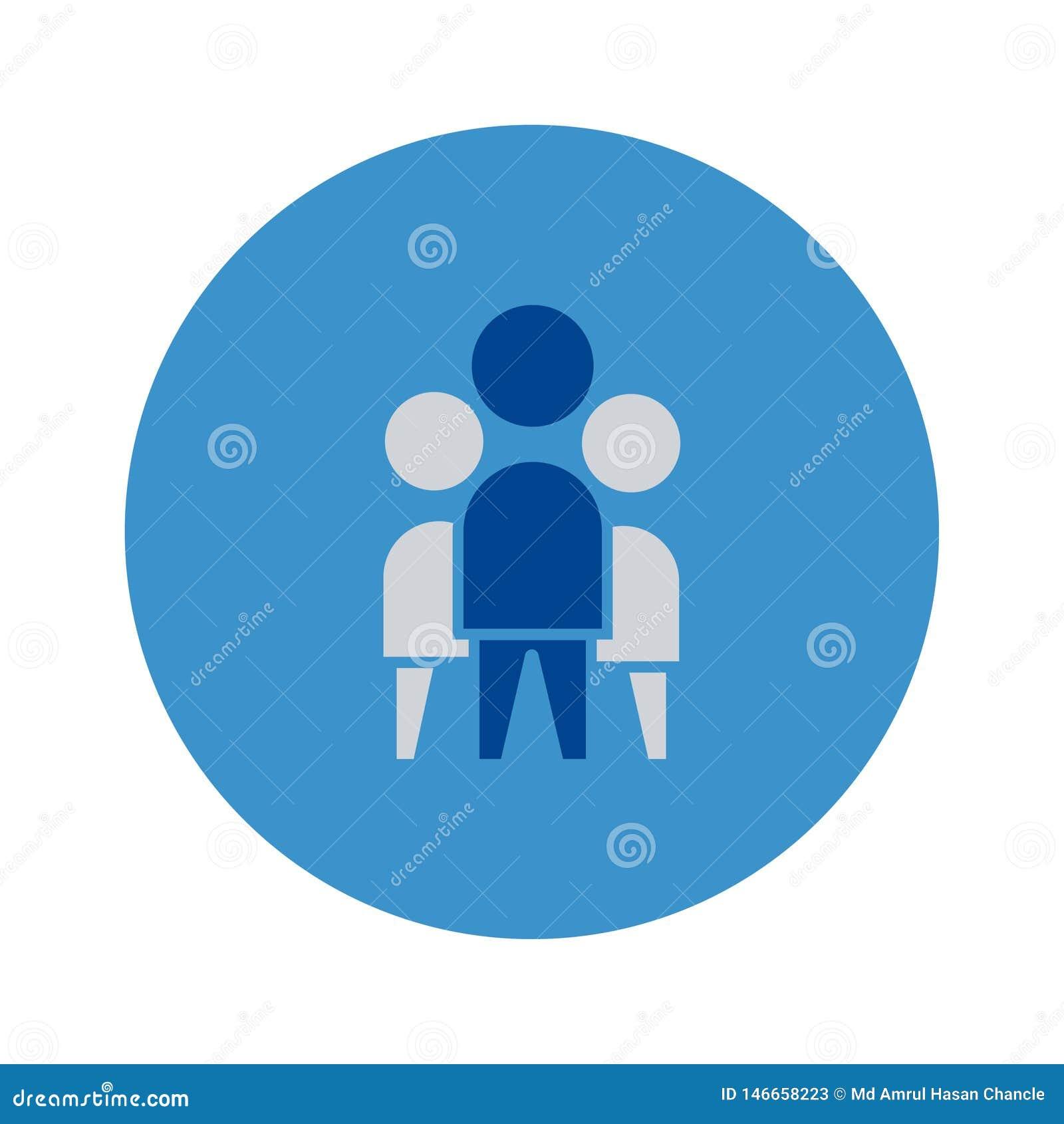 Team Work icon. vector sign symbol Full editable