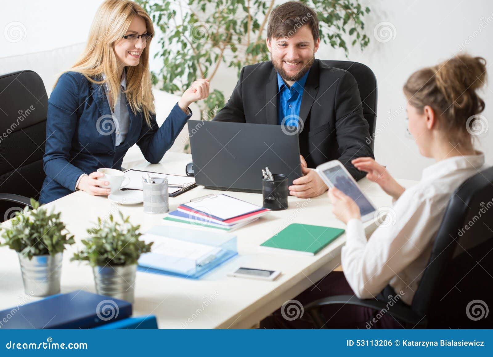 Team work inside the office