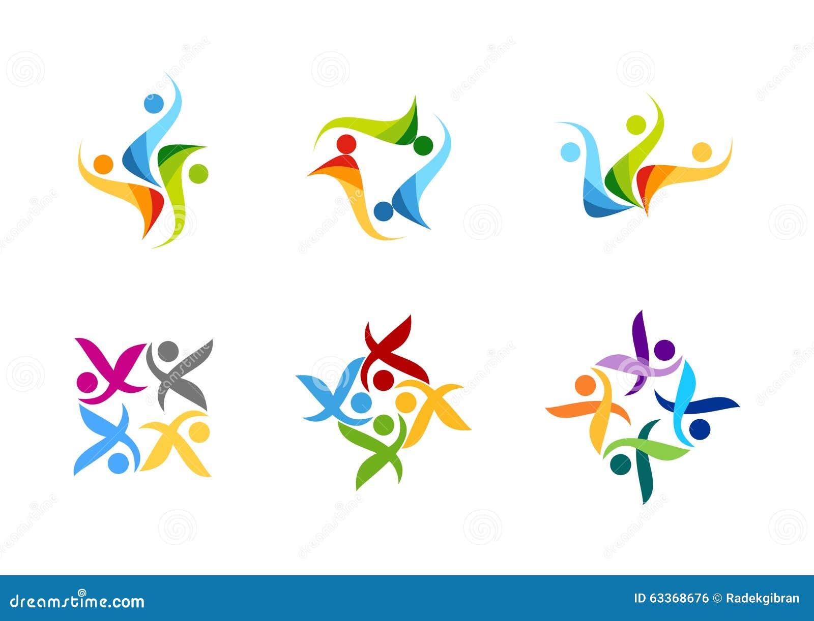 Team Work Logo Education People Partner Symbol Group Icon