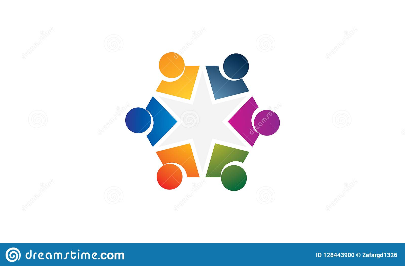 Team Work Logo Rounded Team Work Union People Logo Template