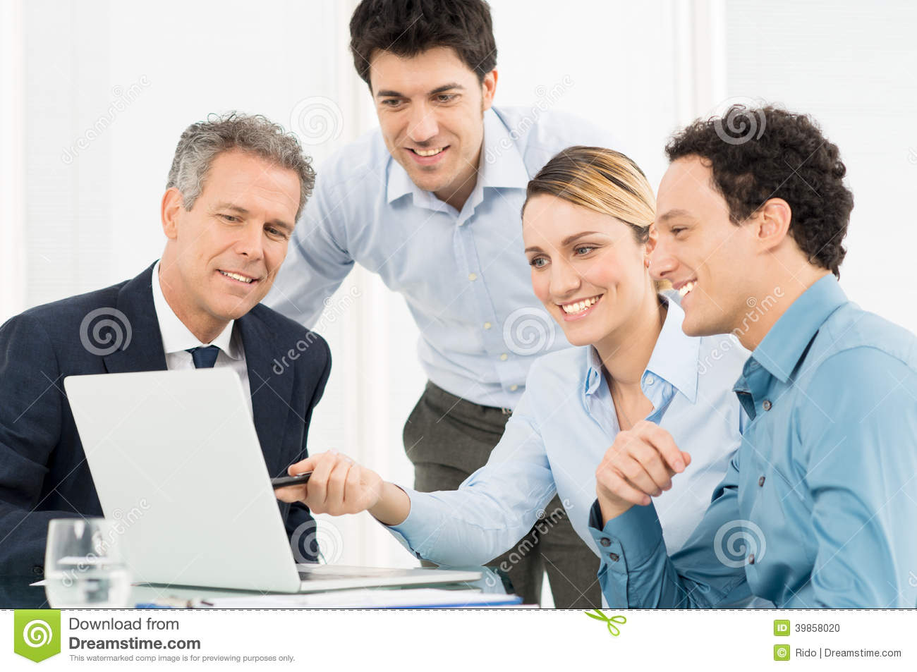 Team At Work At Office