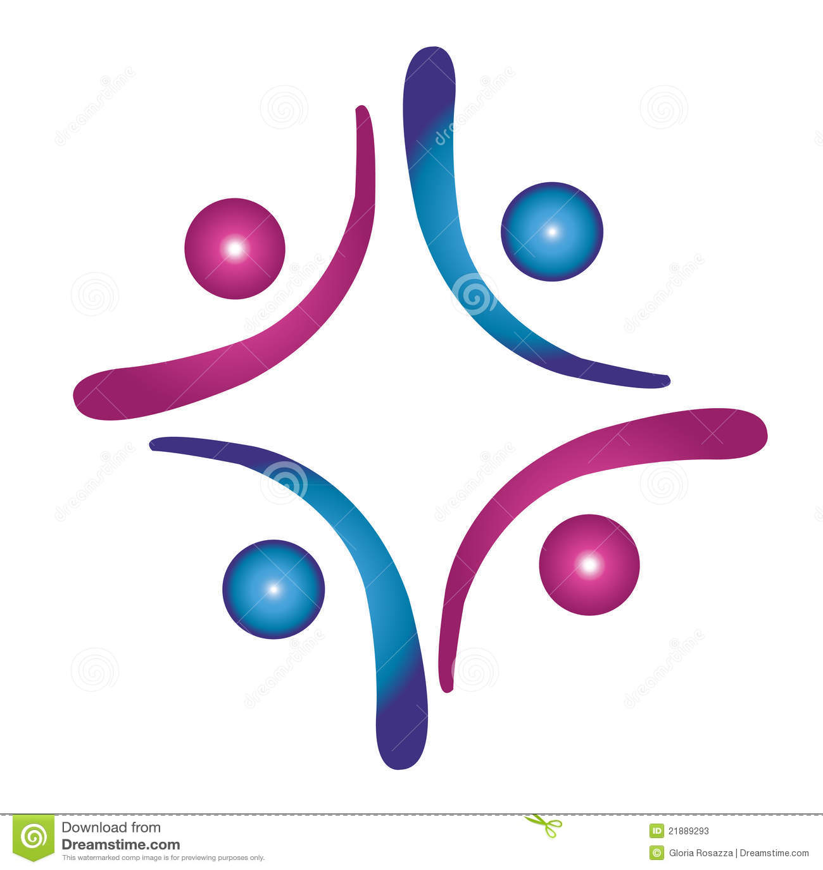 Team work social logo