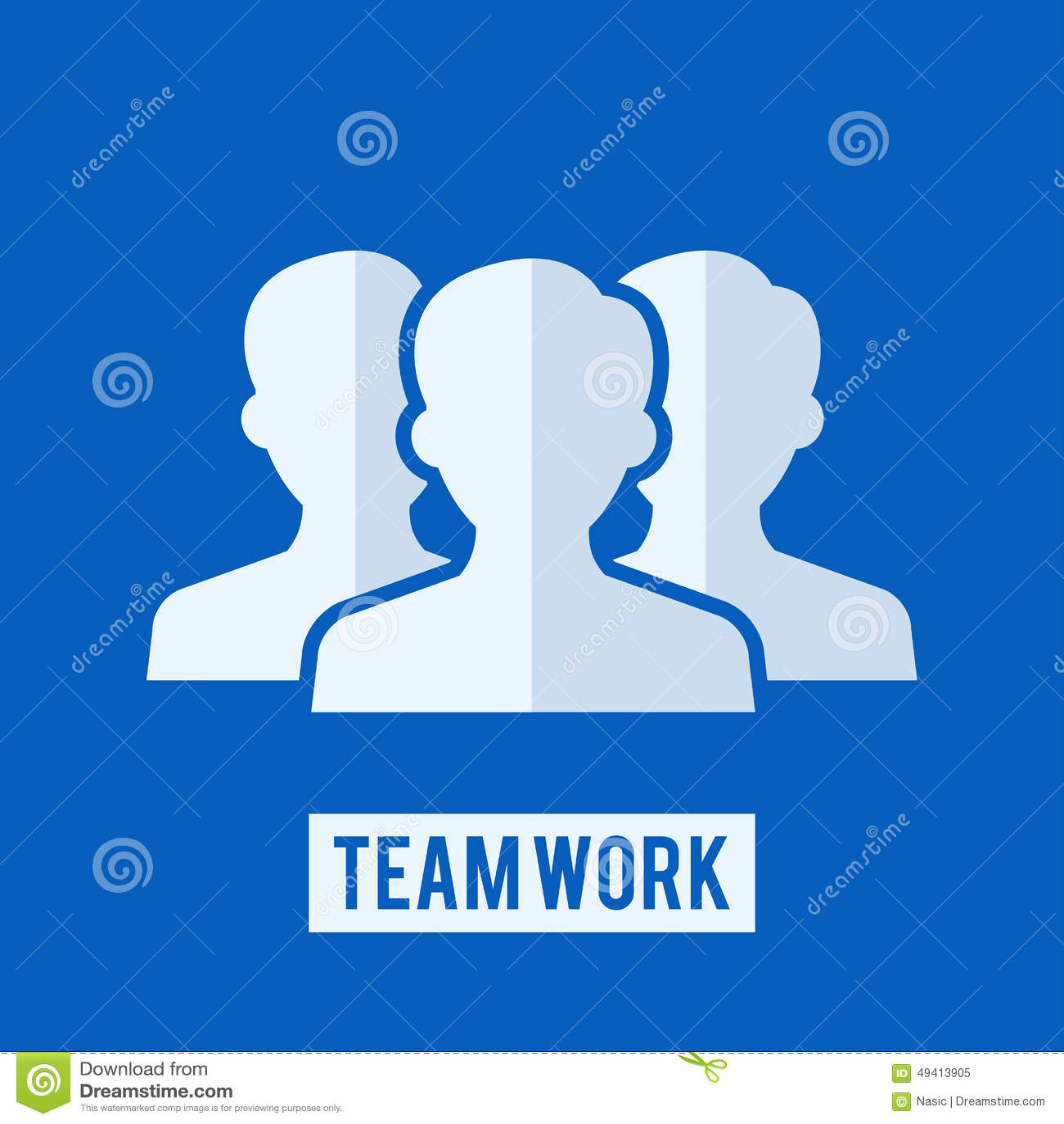 Download Teamarbeitszeichen vektor abbildung. Illustration von zeichen - 49413905