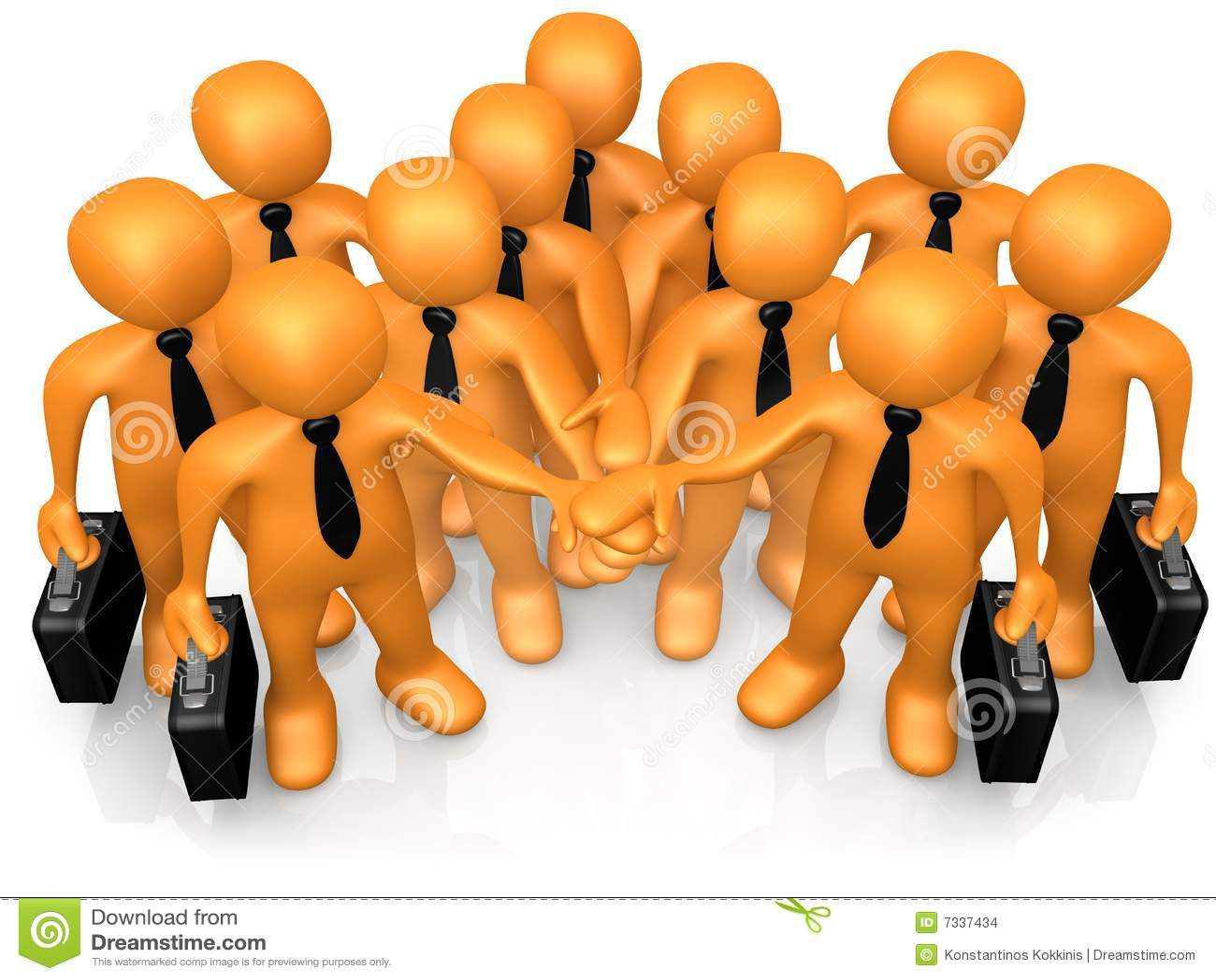 Teamwork stock illustration. Illustration of cooperation ...