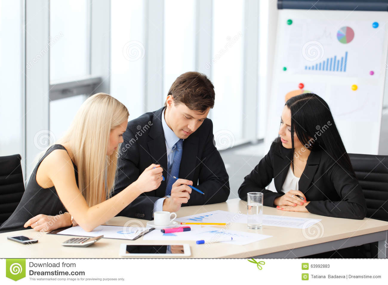Teamwork Of Business People Stock Photo - Image: 63992883