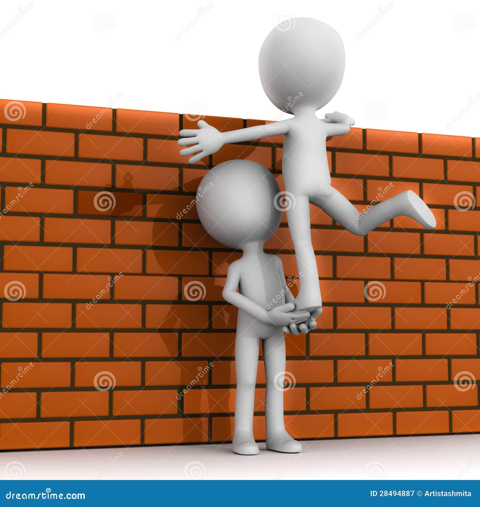 teamwork climb wall royalty free stock photography image