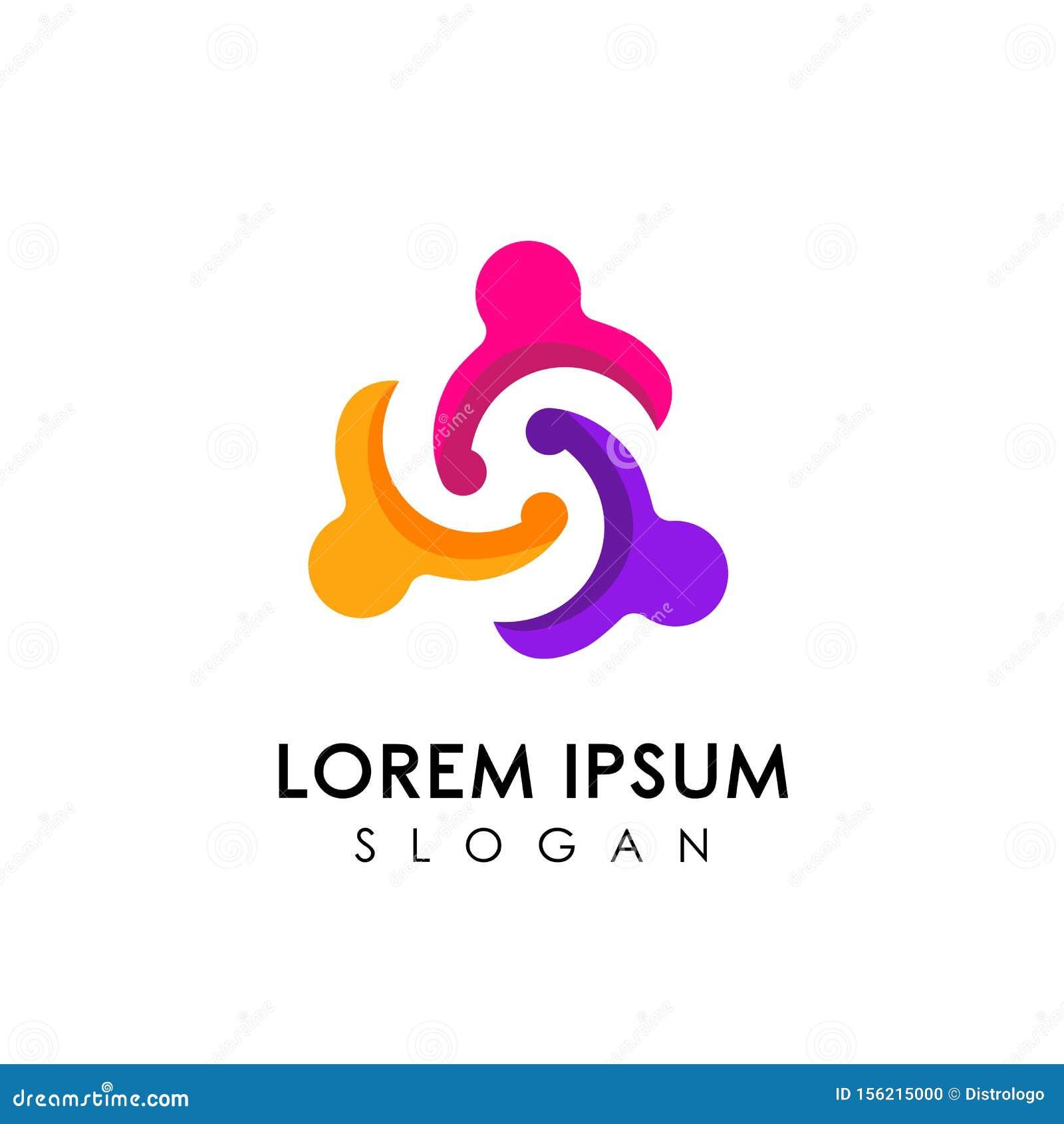 Teamwork And Community Logo Design Vector. Adoption And