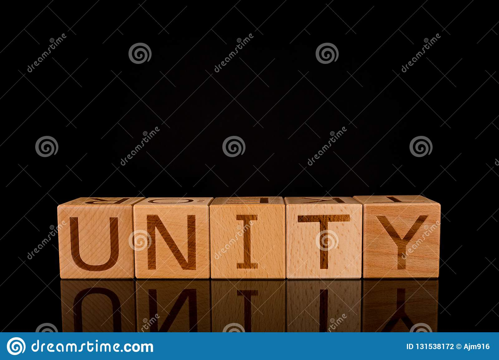 Teamwork Concept Wood Cube Block With Word Unity Stock Photo