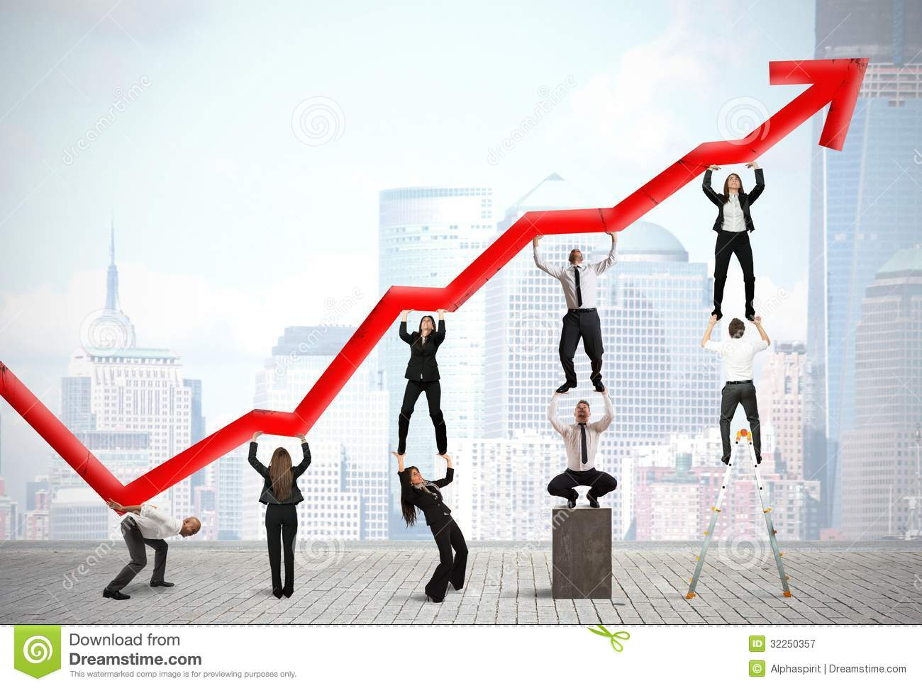 Teamwork And Corporate Profit Royalty Free Stock Photography - Image ...