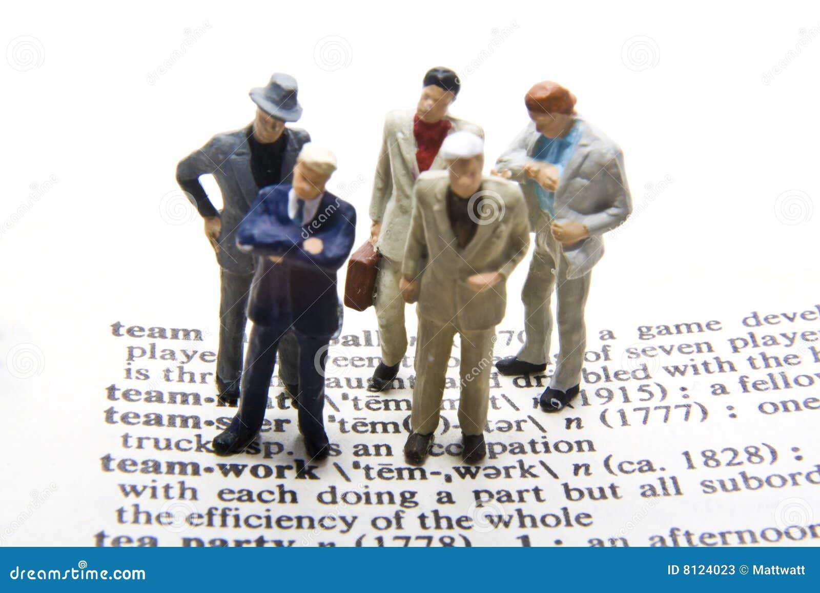 Team Definition Of Team At Dictionary Com >> Teamwork Definition stock image. Image of businessmen - 8124023