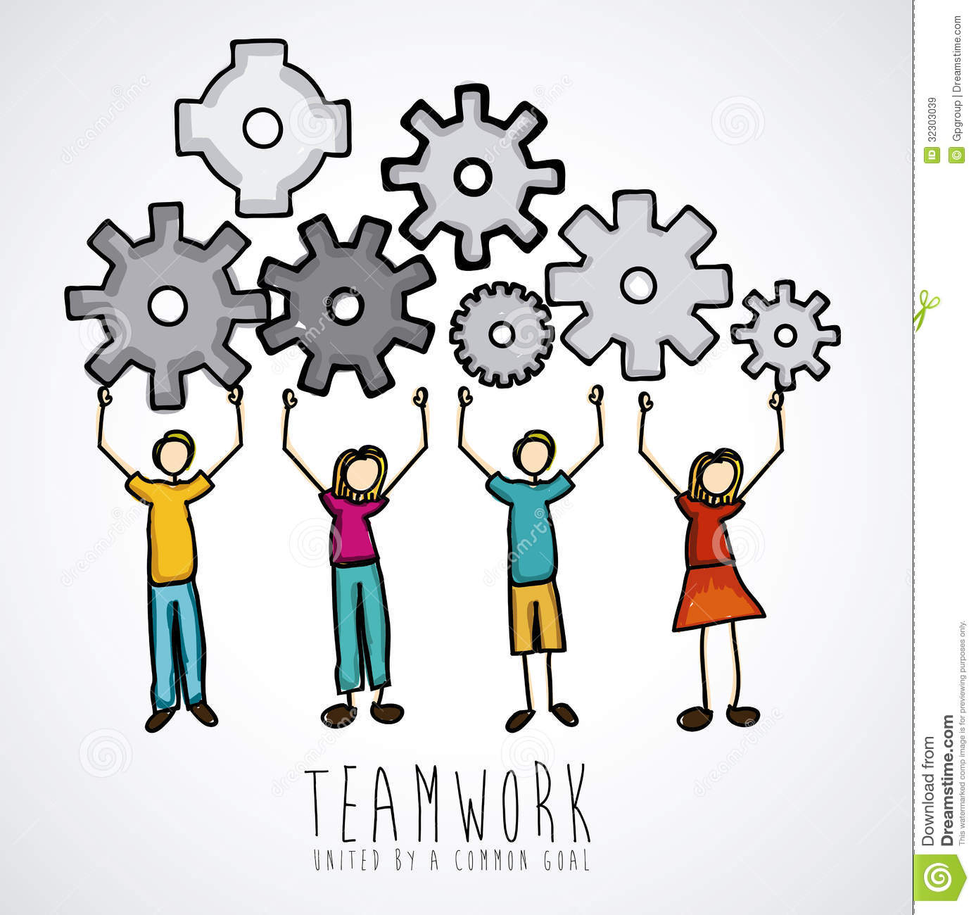 Teamwork Design Royalty Free Stock Images - Image: 32303039