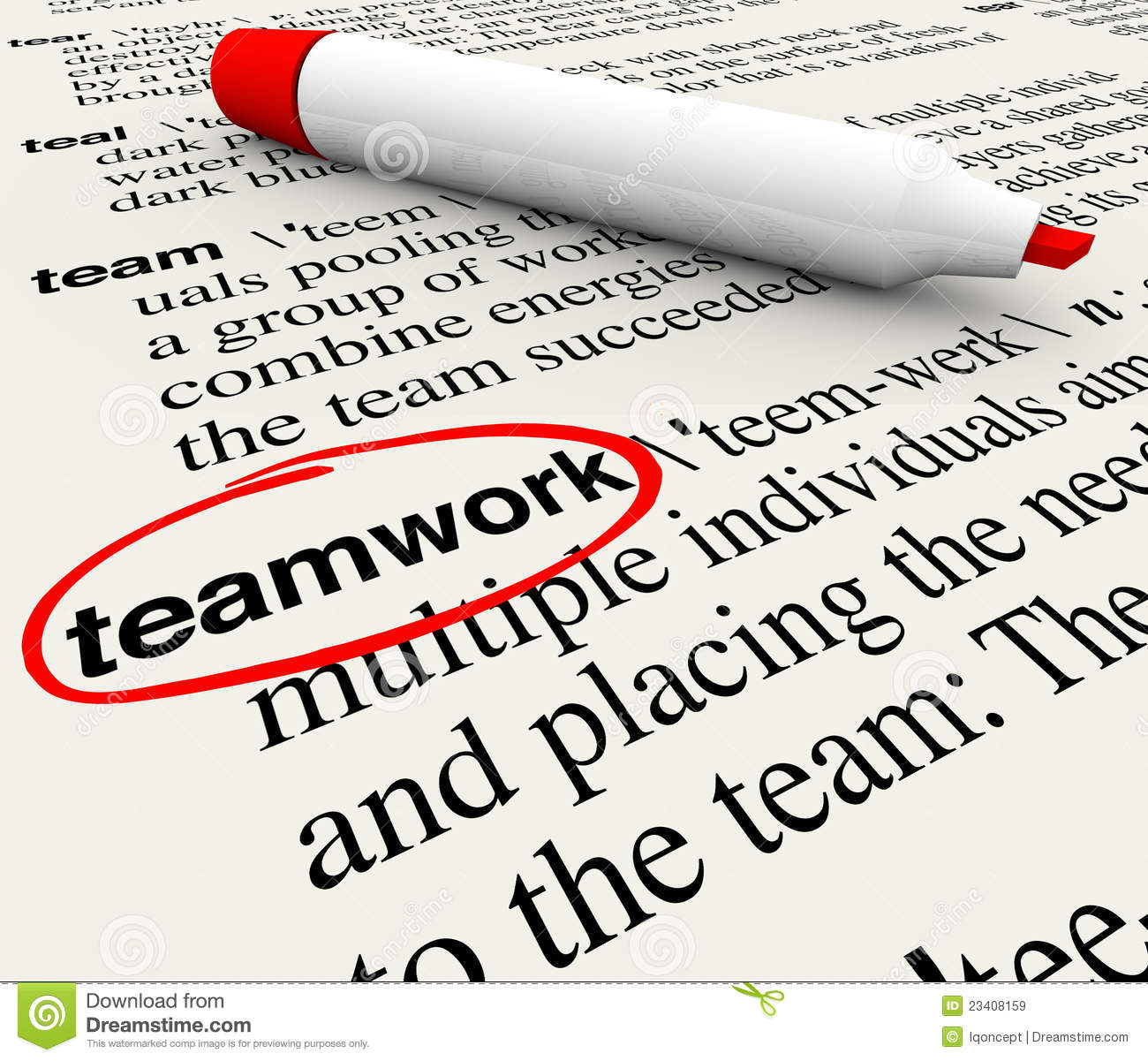 teamwork dictionary definition word circled royalty stock teamwork dictionary definition word circled