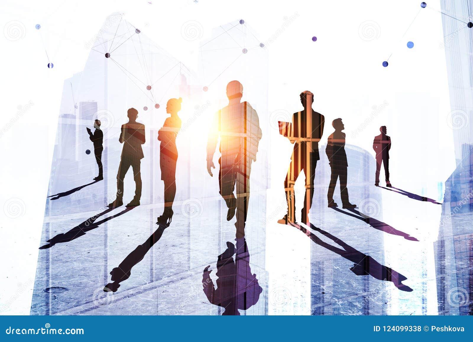 Teamwork-, framgång- och anställningbegrepp