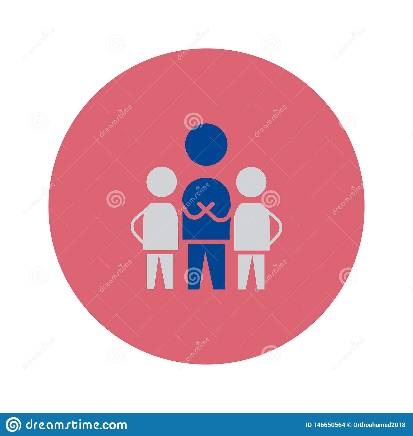 Teamwork icon. vector sign symbol illustration