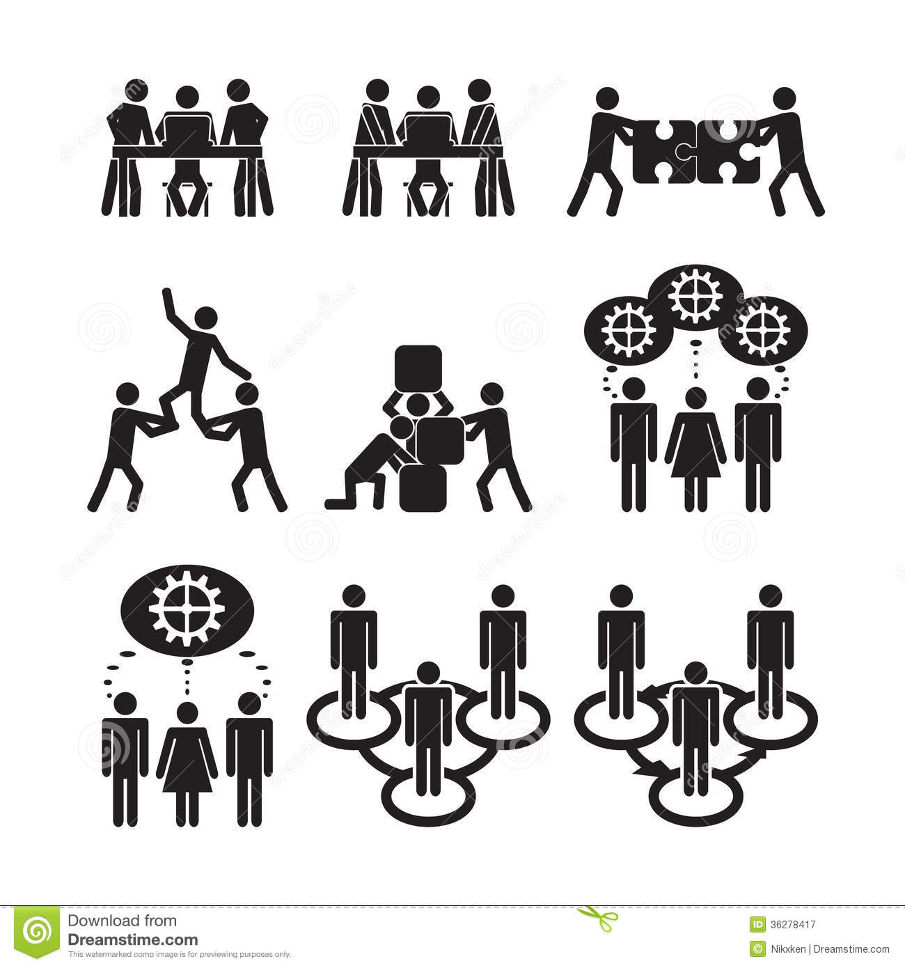 teamwork icons set royalty free stock photography image thought bubble clip art with eyes thought bubble clip art black and white