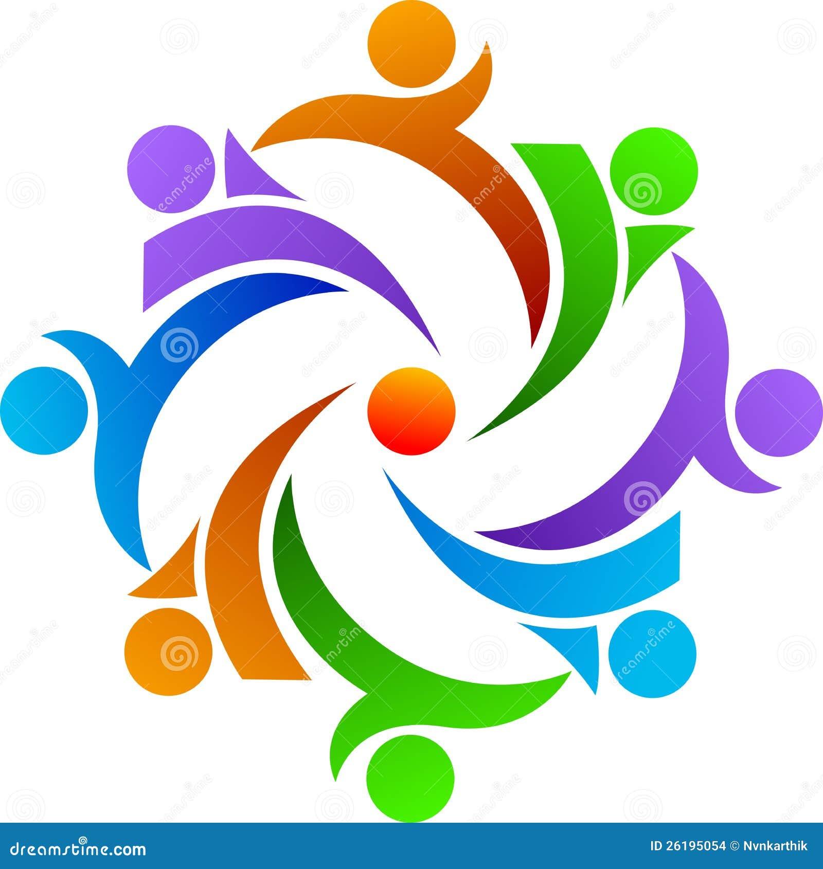 Teamwork logo stock vector illustration of couple for Logo clipart