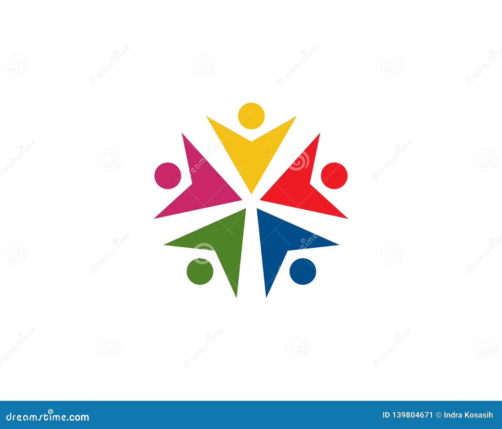 teamwork logo template vector icon illustration