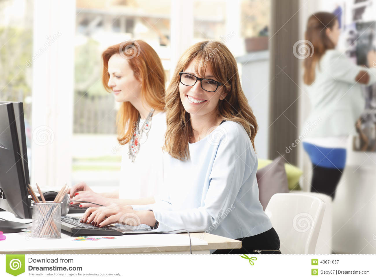 Teamwork At Modern Graphic Design Studio Stock Photo Image 43671057