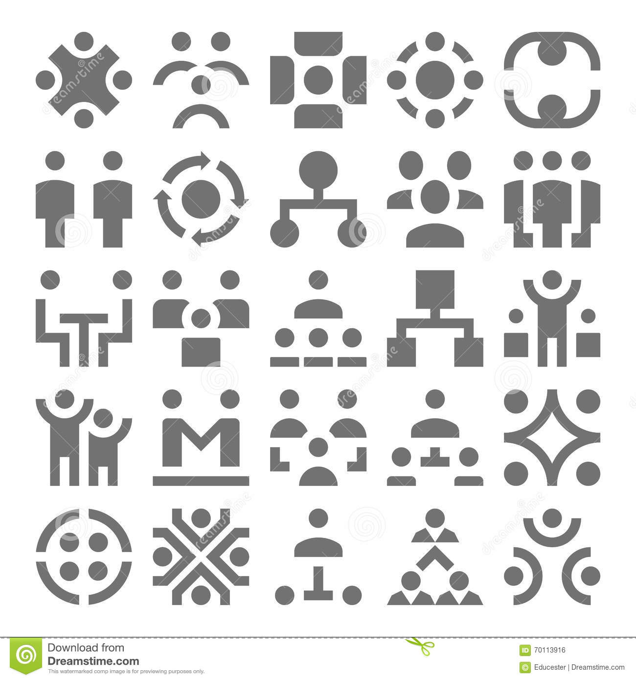 teamwork  organization vector icons 1 stock illustration