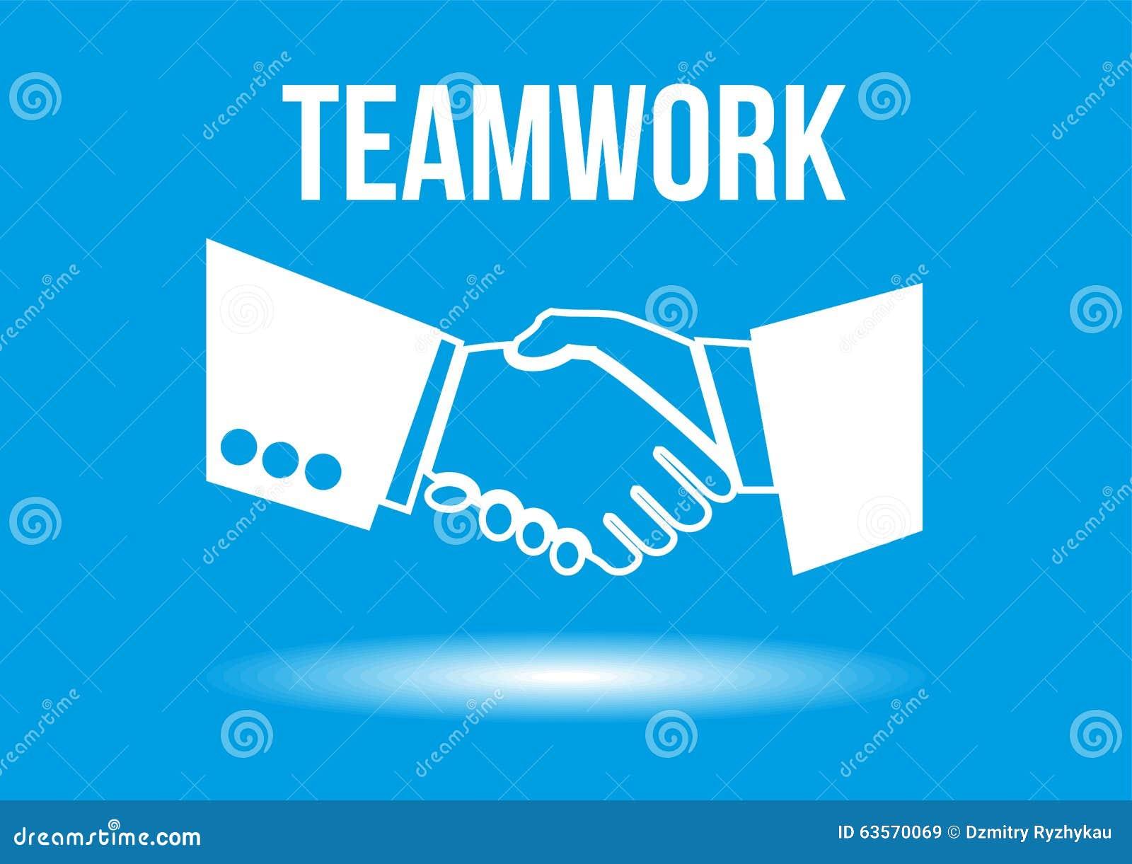 Teamwork Shaking Hands Design Concept Stock Illustration ...