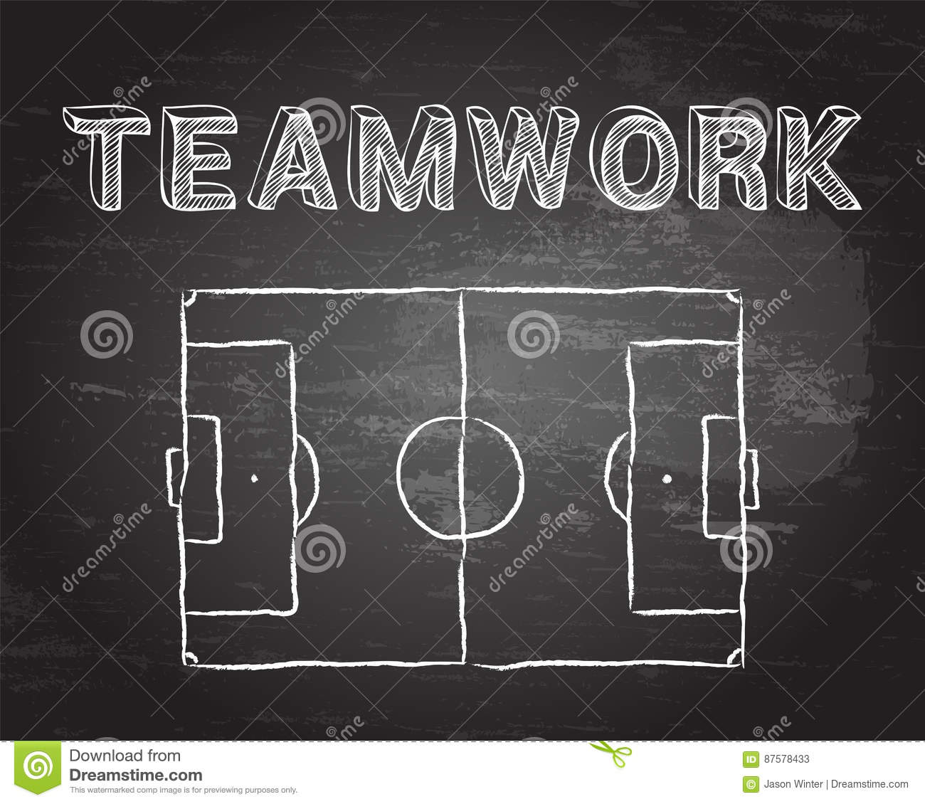 teamwork soccer pitch blackboard football diagram word 87578433 teamwork soccer pitch blackboard stock vector illustration of goal